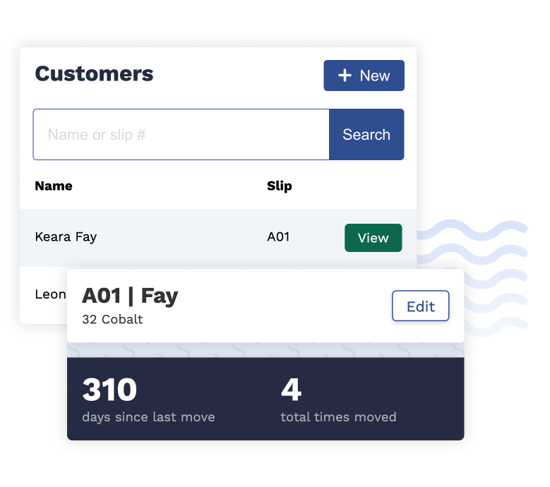 Manage customer records securely in Dockhound.
